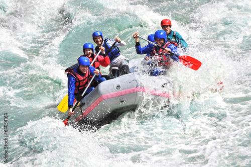 Zdjęcia na płótnie, fototapety, obrazy : Rafting as extreme and fun sport