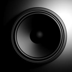 Black speaker background