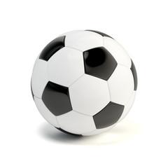 Shiny glossy soccer ball