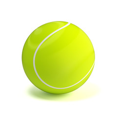 Shiny glossy tennis ball