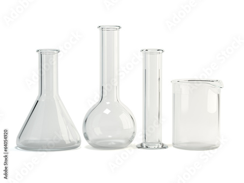 Test-tubes isolated. Laboratory glassware