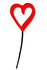 roter Luftballon - Herzform