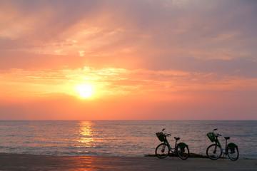 Two bicycles on Batumi beach