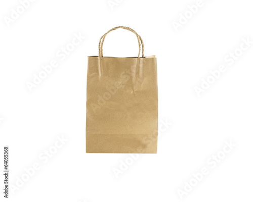 paper bag  brown color  isolated