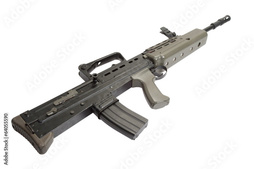 British assault rifle L85A1 isolated on a white background