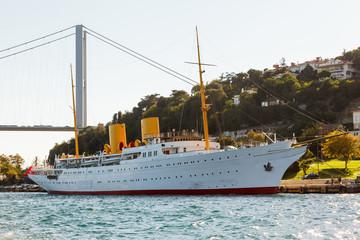 Bosporus and old white steamer