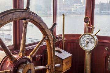 vintage ship steering wheel