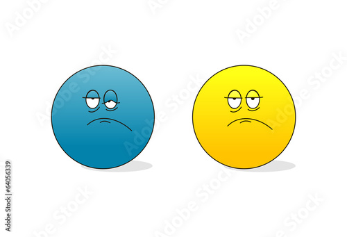 sad and tired emoticons