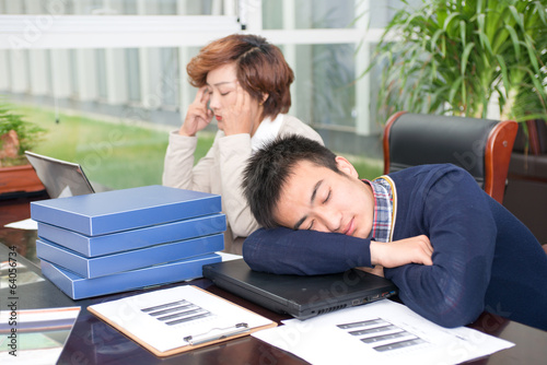Business people sleep pressure