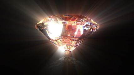 Diamond background, beautiful 3d animation. seamless loop