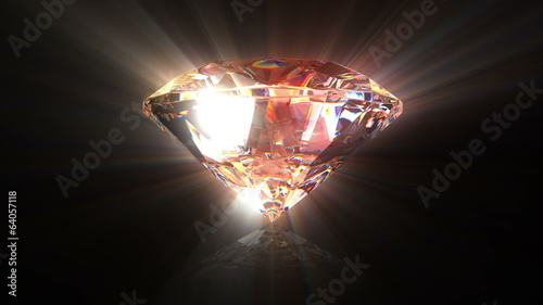 Diamond background, beautiful 3d animation. seamless loop