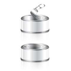 Empty tin can vector illustration
