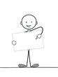 STICKMAN HOLDING BLANK SIGN (marketing advertising pr)