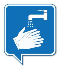 Logo lavage des mains.