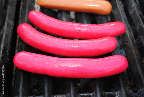 Red Ball Park Franks on a Grill