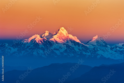 Himalayan Mountains View from Mt. Shivapuri - 64058589