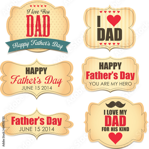 Father's Day labels