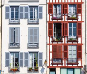 Building facade in Bayonne, France