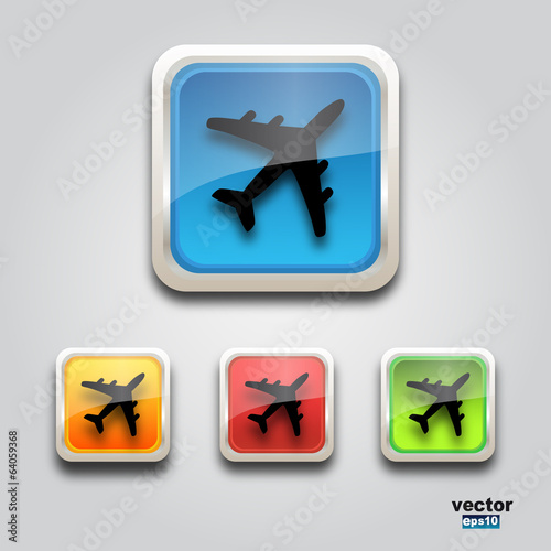 Web plane icon square