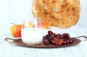 Conceptual photo of Ramadan table