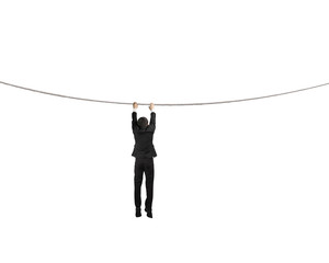 Holding rope and hanging