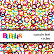 abstract bright bubbles background