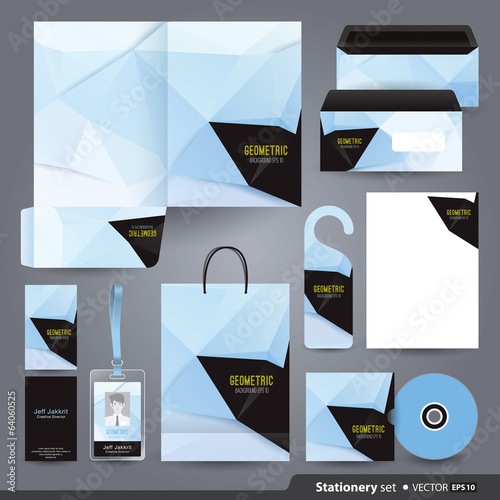 Stationery template design.