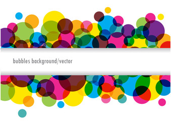abstract vector banner with bright bubbles