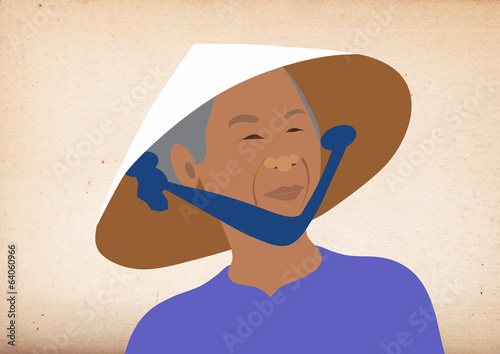 Portrait of a Vietnamese woman