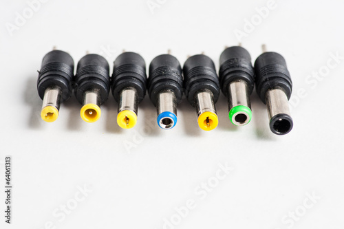 Set of different laptop plugs