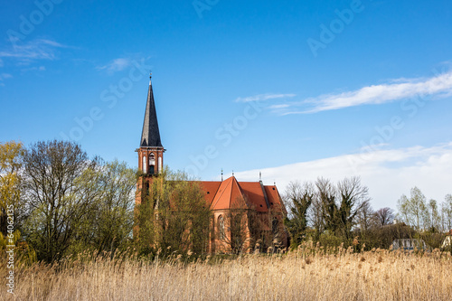 canvas print picture Kirche in Wustrow.