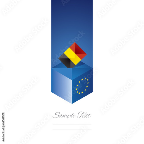 EU elections in Belgium vector
