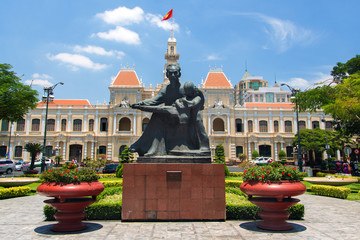 Ho Chi Minh Statue in Saigon, Vietnam
