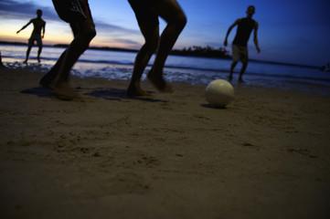 Brazilian Football Soccer Players Night Game
