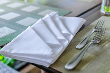 Table napkin (A small piece of table linen)