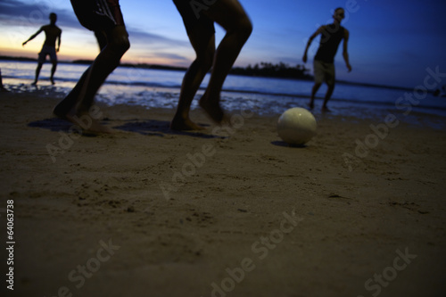 Brazilian Football Soccer Players Night Game