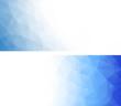 Abstract geometric polygonal banners.