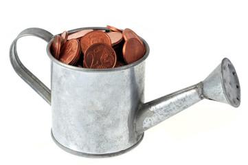 Arrosoir de centimes d'euros