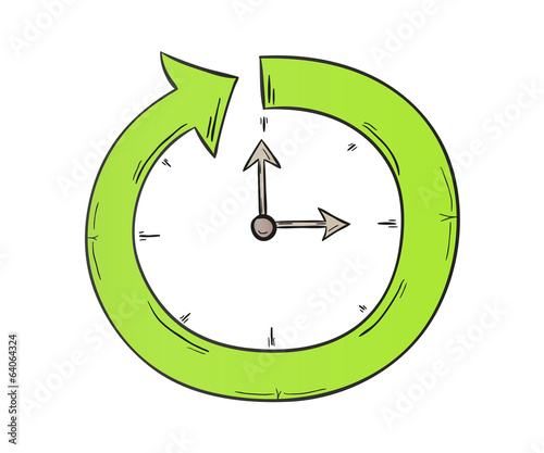arrow and clock