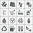 Set of eco energy icons - 64065145