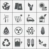 Set of eco energy icons
