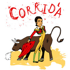 Bullfighting in Corrida Spain