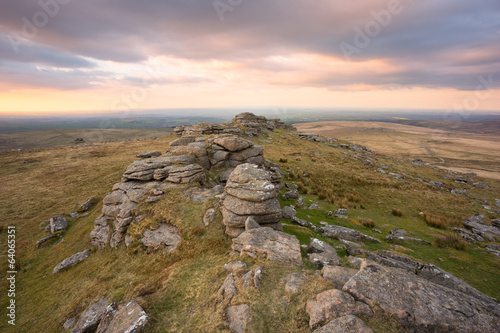 West Mill Tor Dartmoor Devon Uk