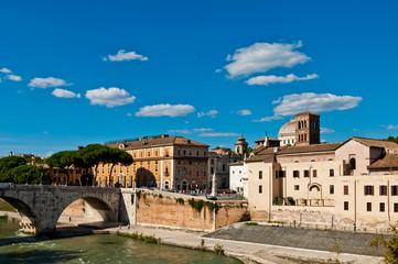 The Tiber Island in Rome