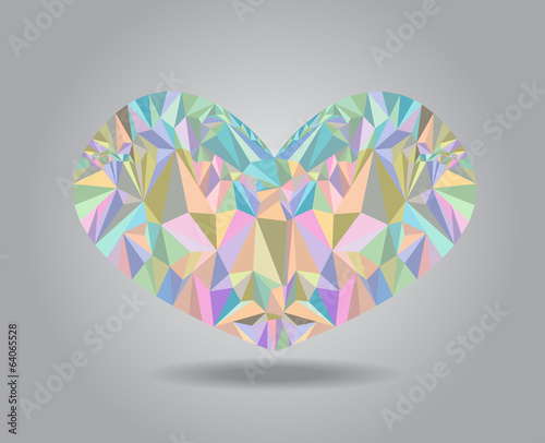 Heart Shape Geometric Pastel Color