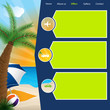 Tourism website template with summer offers