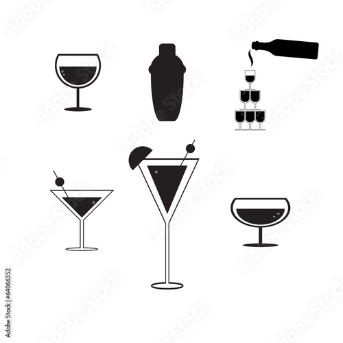 cocktail party concept vector