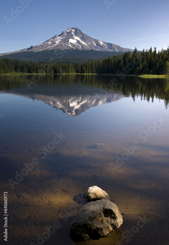 Calm Clear Water Trillium Lake Mount Hood Oregon State