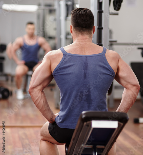 Fit man preparing for workout