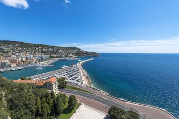 Aerial view of Nice coast
